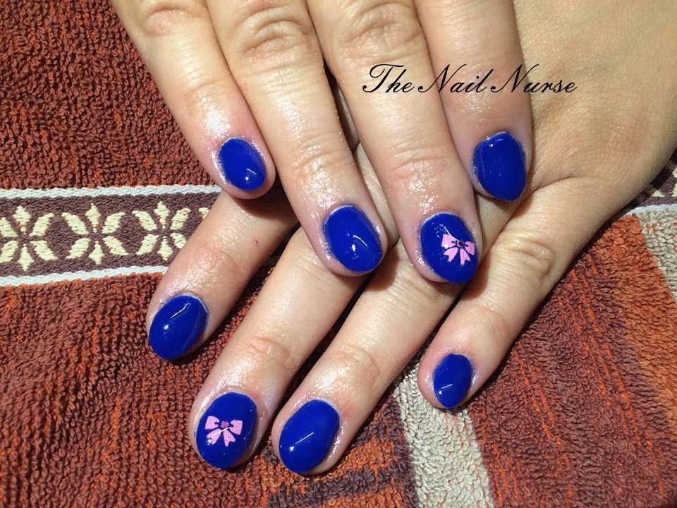 Donker blauw met airbrush