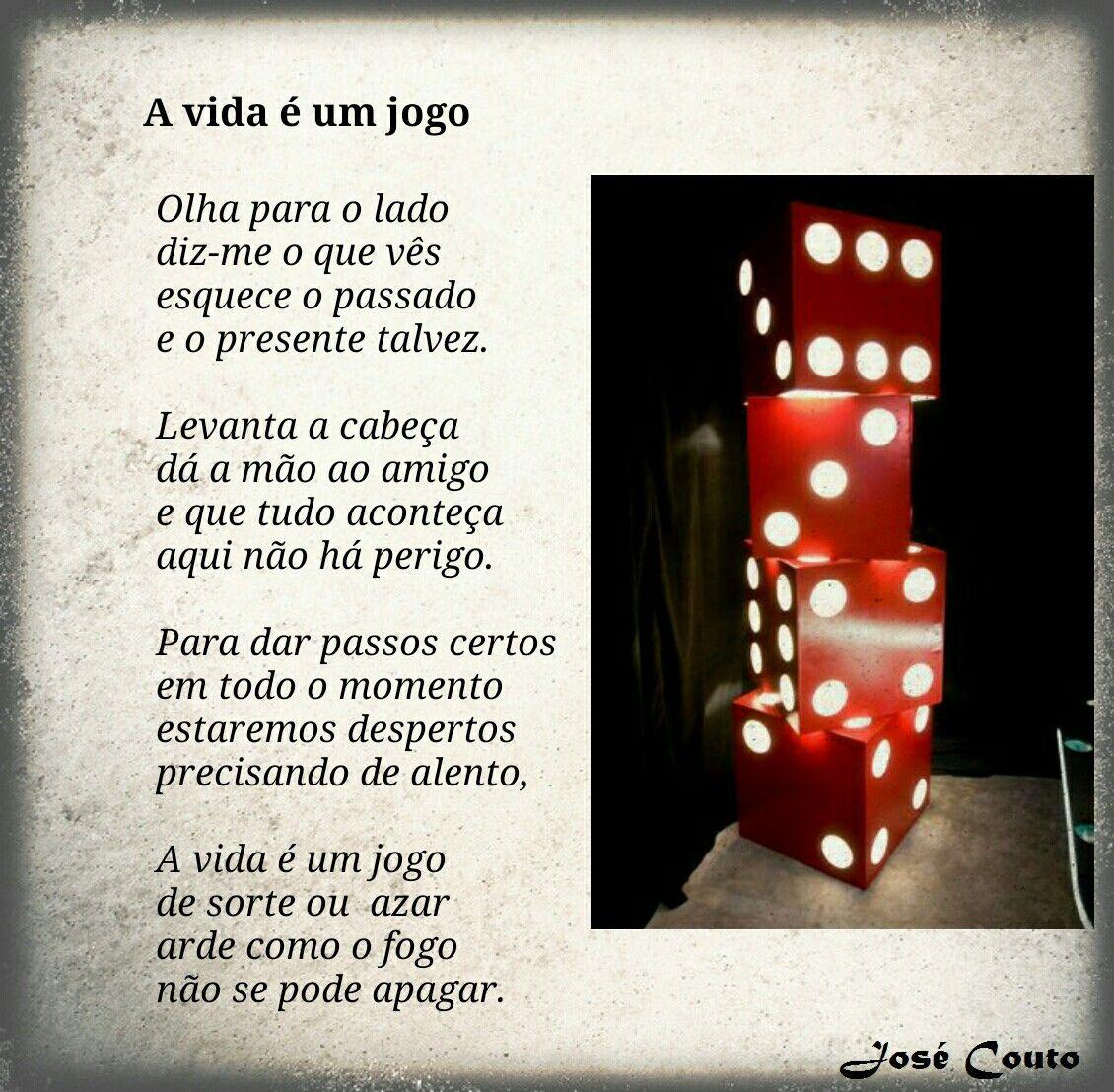 A Vida é Um Jogo Poesia Poema Versos Amor Poeta Poetry