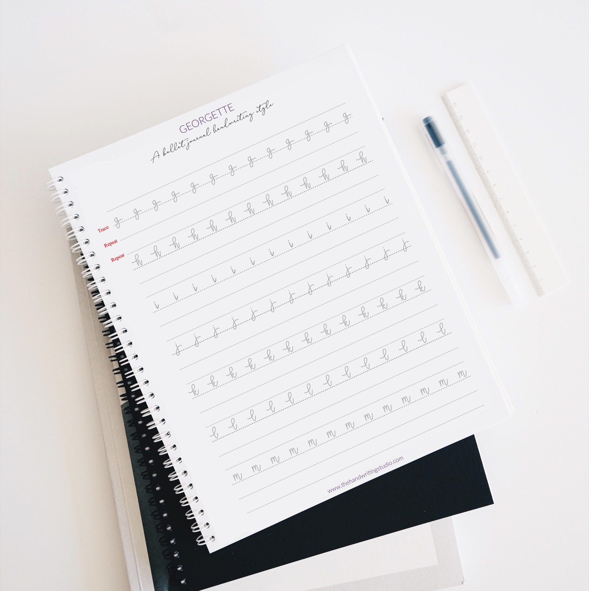 A Bullet Journal Handwriting Style In