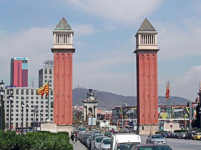 Die venezianischen Türme in Barcelona