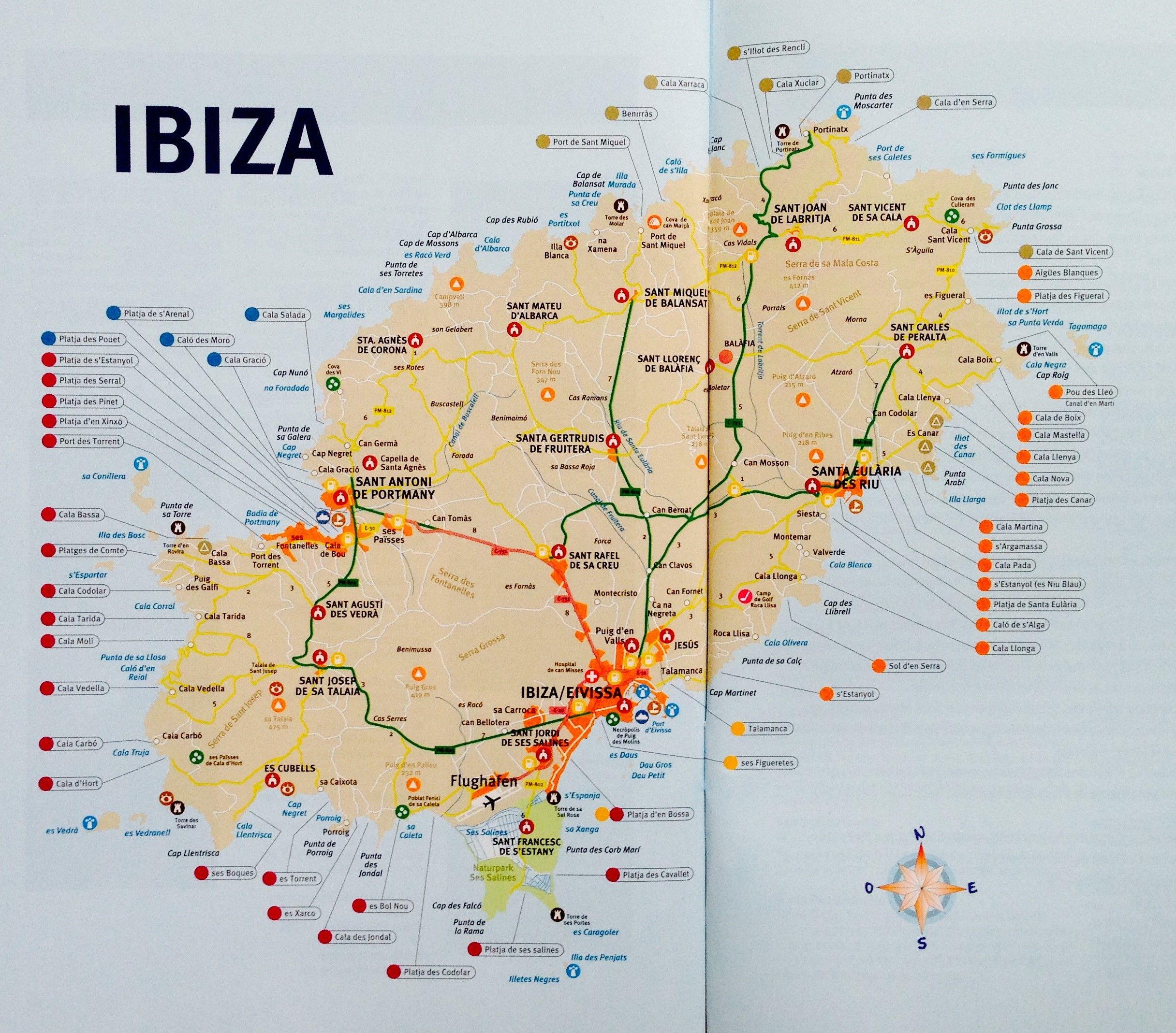 ibiza karte Ibiza Strände: Großer Überblick aller Strandtypen mit Karte