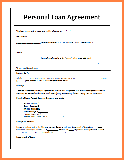 5 Sample Loan Agreement Letter Between Friends Purchase Agreement Group Personal Loans Contract Template Personal Loans Online