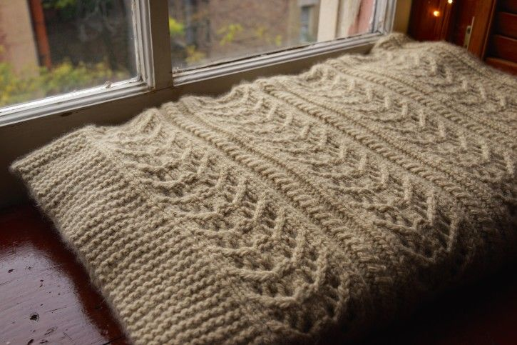 Cozy Lace and Cable Knitting Blanket designed by One Avian ...