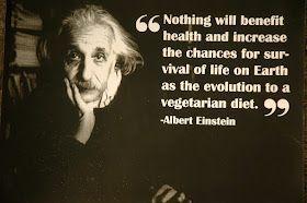 Vegetarian Quote: Albert Einstein #vegetarianquotes