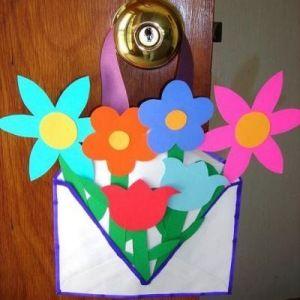 Making An Envelope Flower Basket Construction Paper Flowers