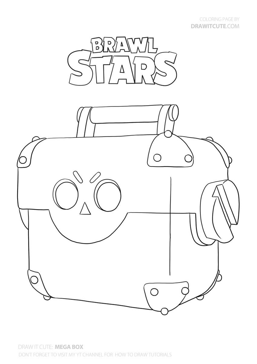 Mega Box Brawlstars Coloringpages Fanart Drawitcute Star Coloring Pages Blow Stars Boy Coloring