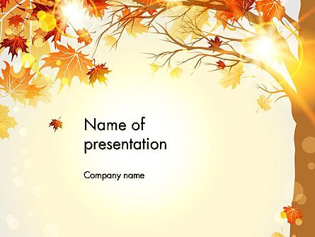 Yellow leaves in the sunset powerpoint template vicky yellow leaves in the sunset powerpoint template toneelgroepblik Image collections