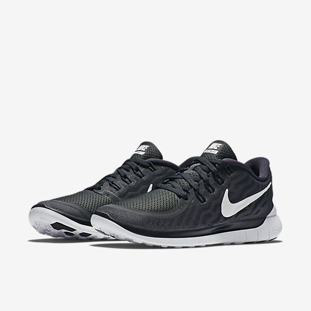 Womens Shoes Nike Free 5.0 Black/Dark Grey/Dove Grey/White