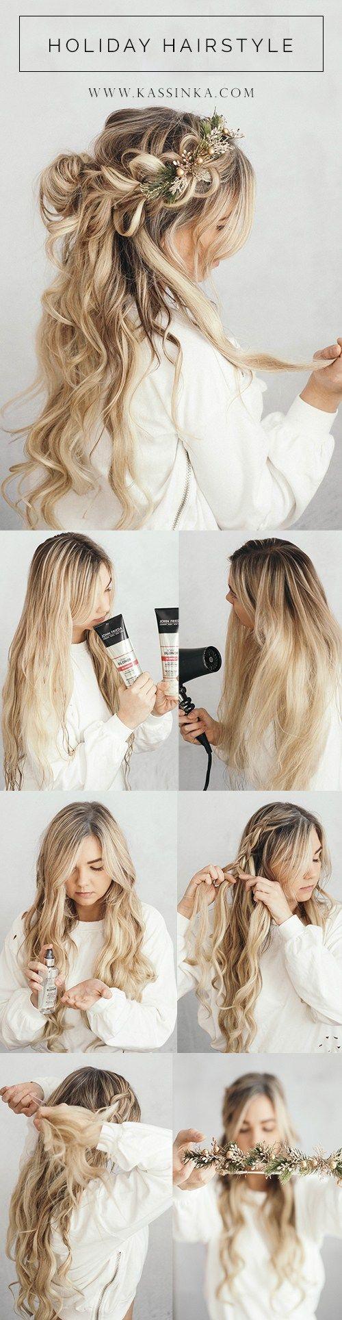 KASSINKA | Holiday Hair Tutorial With John Frieda | hair | Pinterest ...