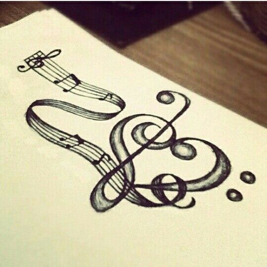 Heart music draw