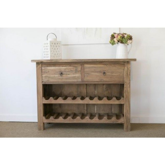 Rustic Two Draw #wine Rack Cabinet Suitable For Kitchens, Utilities Or  Conservatories. This Part 66