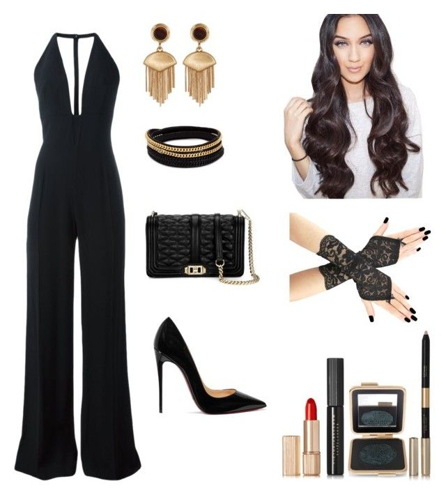 """Jumpsuits "" by faithywaffy on Polyvore featuring La Mania, Christian Louboutin, Vince Camuto, Vita Fede, Clover and Estée Lauder"