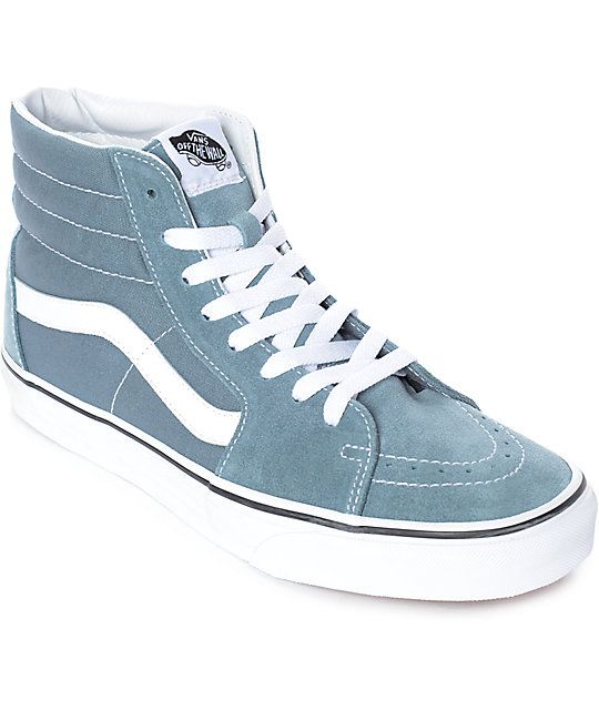 95b0334ee7 Vans Sk8-Hi Goblin Blue-Grey & White Skate Shoes in 2019 | Da ...