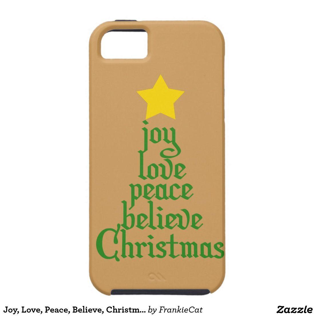 Joy Love Peace Believe Christmas iPhone SEs Case  Iphone se
