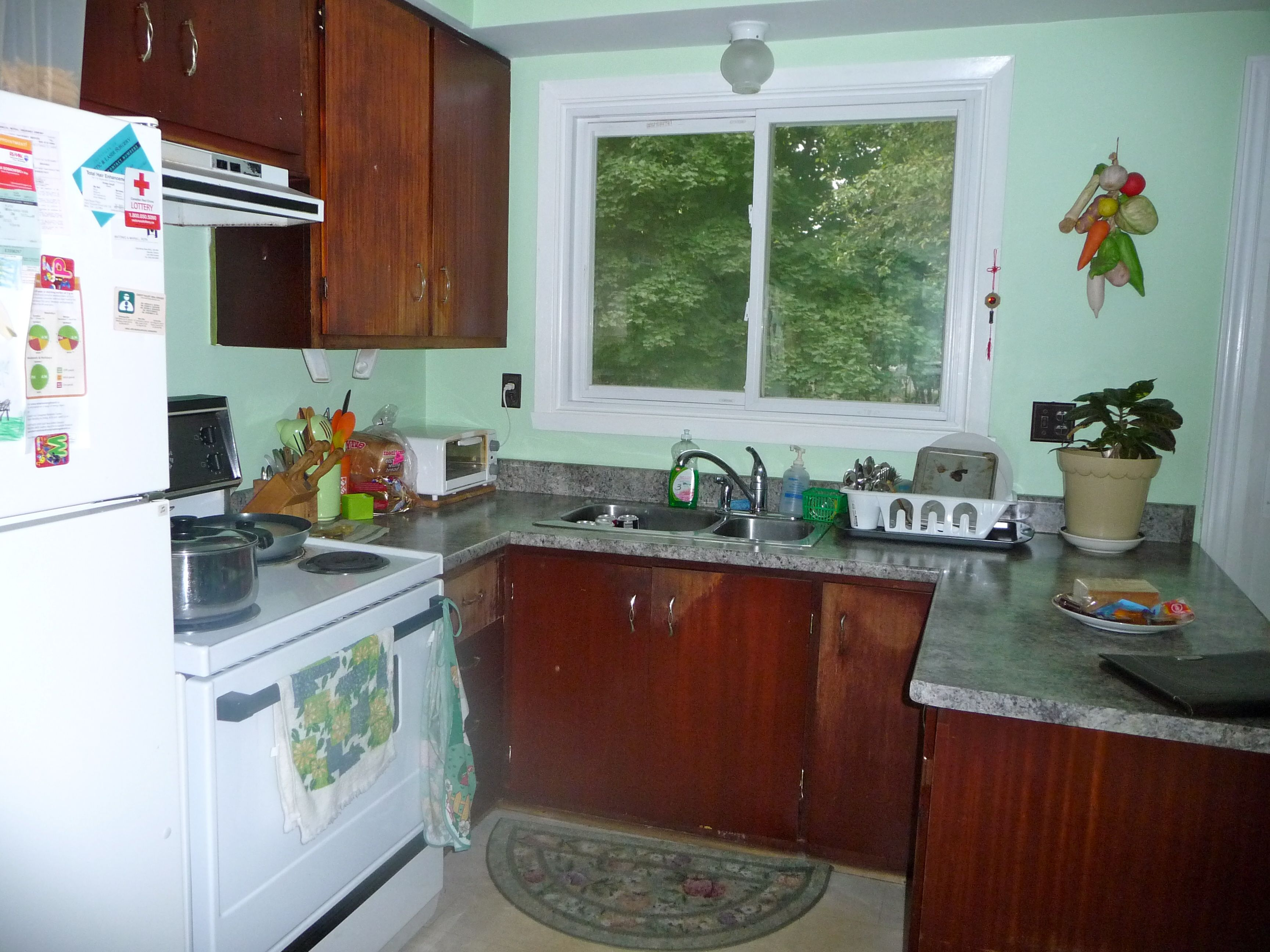 Before: Declutter kitchen counters, remove small knick knacks ...