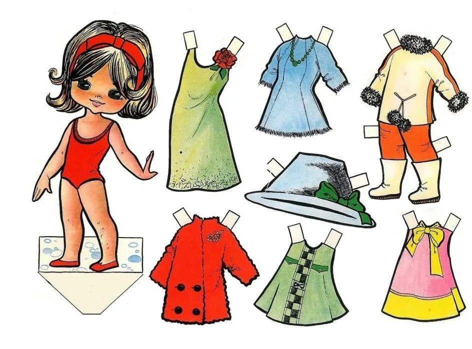 Картинки картонные куклы