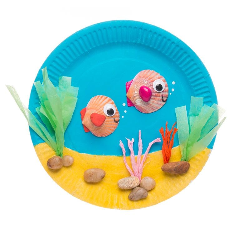 Paper Plate Aquarium   Paper plate crafts for kids, Paper ...