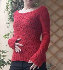 Lucy's Diamonds Pullover by Ela Torrente - Use COUPON CODE: EASTER2014 and get one FREE pattern until Apr, 21st