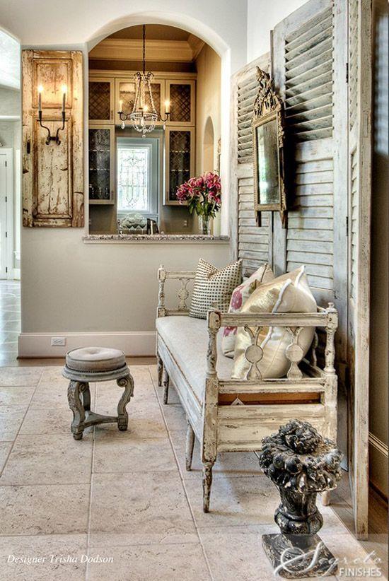 Decorar el recibidor con muebles antiguos ecleptico - Decorar reciclando muebles ...
