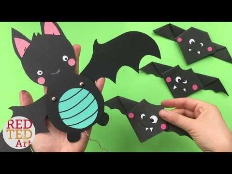 Bat Paper Puppet Trunk or Treat Pinterest Halloween