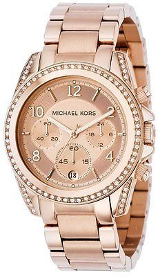 new release best cheap top brands Michael Kors Blair Ladies Rose Gold Chronograph Designer ...