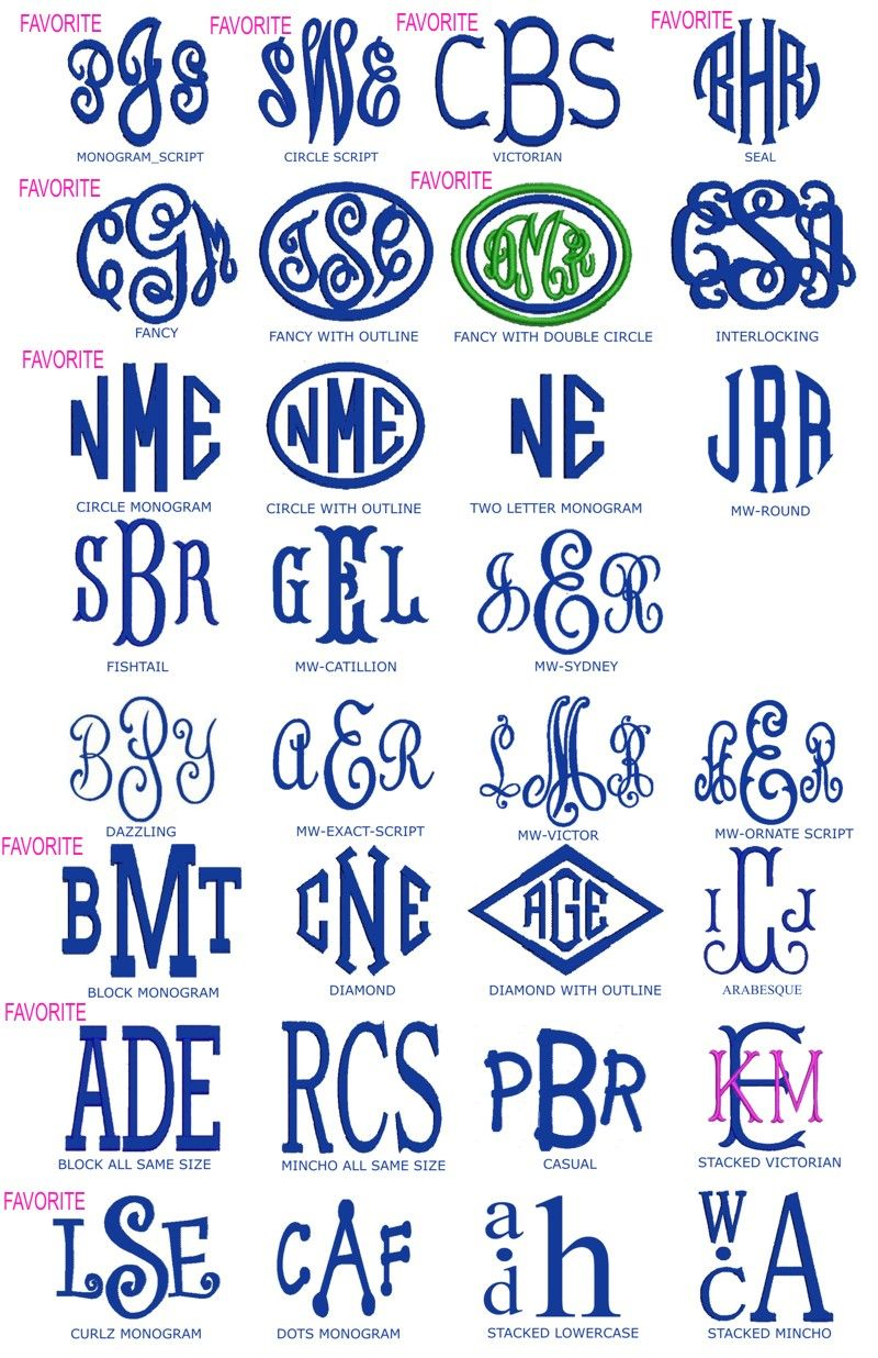 3 letter monogram fonts preppy monogrammed gifts fonts