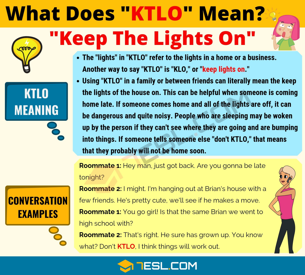 Ktlo Meaning What Does Ktlo Mean Useful Text Conversations Meant To Be Text Conversations Slang Words