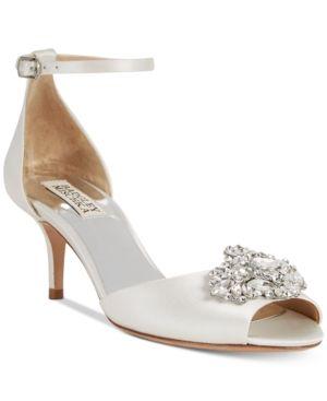 Badgley Mischka Halsey Evening Sandals - White 5.5M