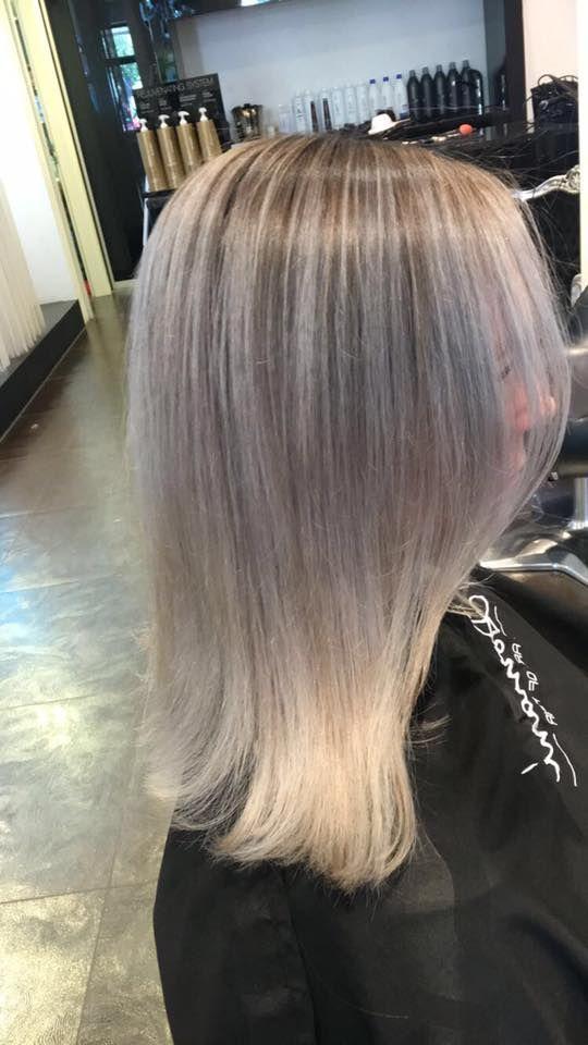 Grey Hair Granny Hair Painting Strahnen Frisuren Langhaar Haar Styling Haarverlangerung