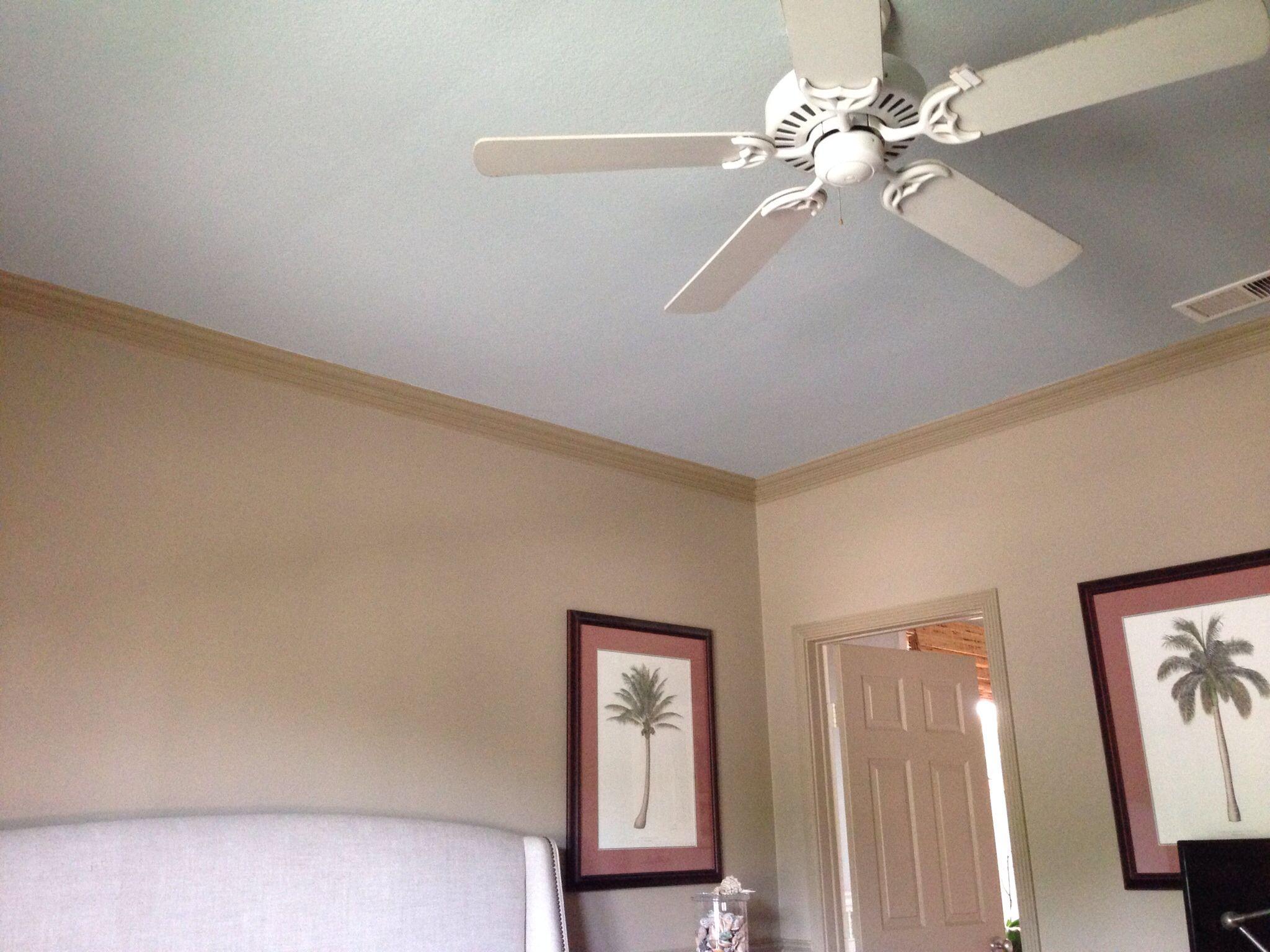 Ceiling Painted Benjamin Moore Woodlawn Blue In My Master