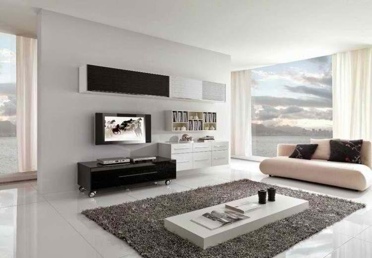salones modernosdecoracin minimalista - Como Decorar Un Salon Moderno