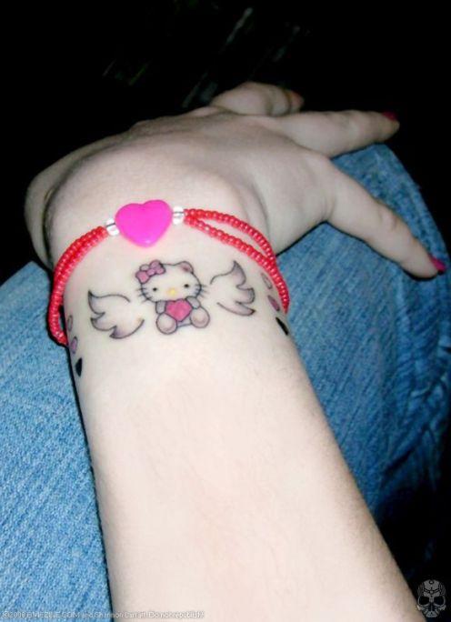 Tattoo Ideas Hello Kitty Hello Kitty Tattoos Angel Tattoo Designs Tattoos