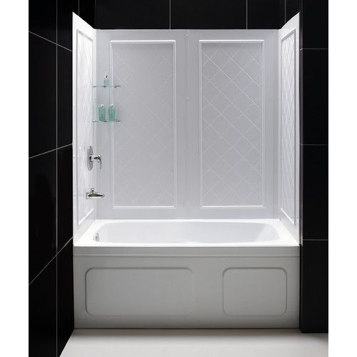 Qwall Slimline 60 H X 56 W X 28 D Shower Wall With Images