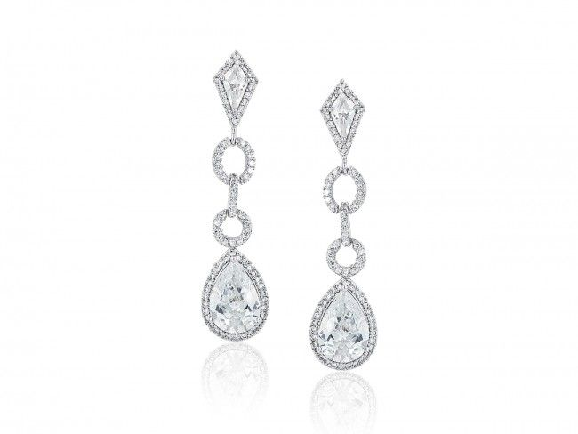 Diamond Link Earrings - $112.50