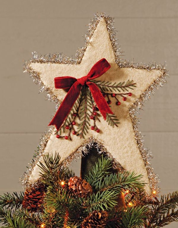 2013 christmas tree topper red bow christmas tree topper for 2013 felt stars christmas tree topper