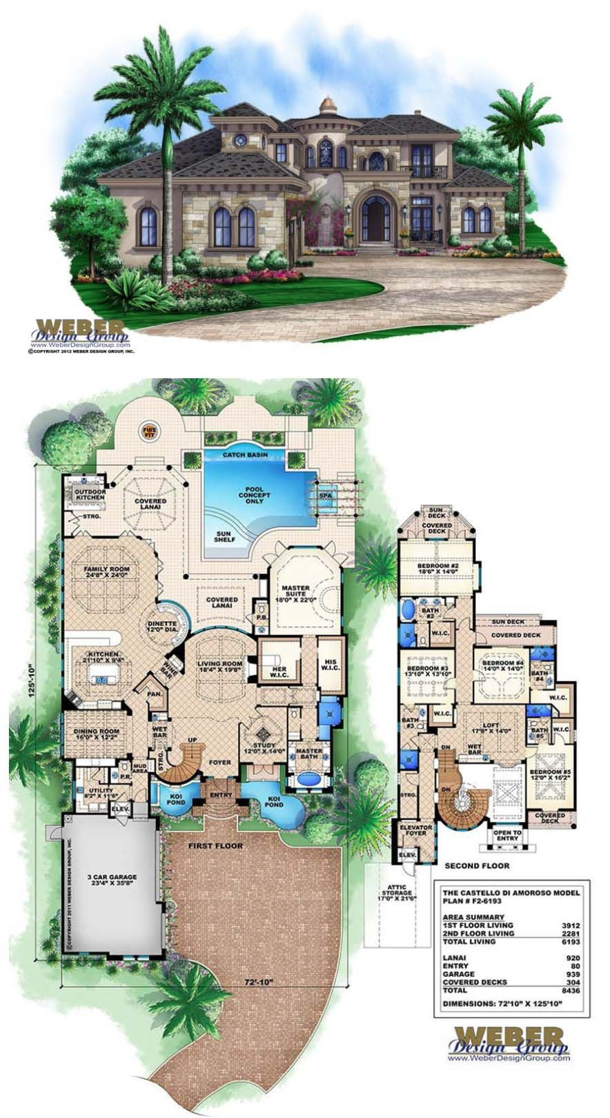 Beach House Plan Mediterranean Style