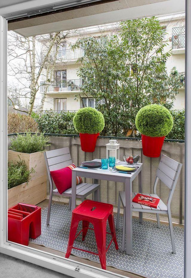 Petite terrasse bien aménagée, déco au top | Balconies, Patios and ...