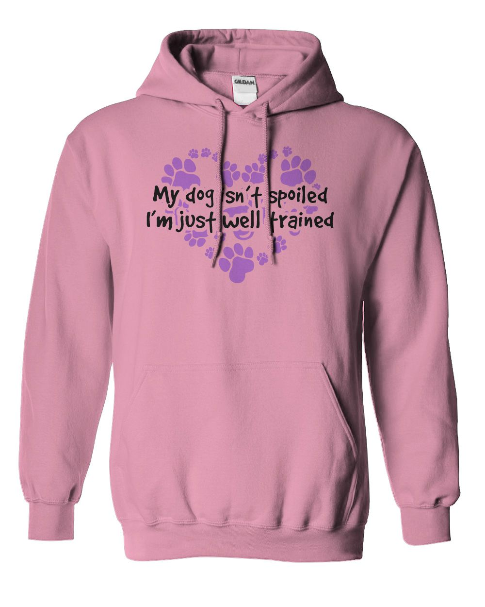 5f1eeb2bd My Dog Isn't Spoiled I'm Just Well Trained....Hoodie or T-Shirt. Click to  see here>>> www.sunfrogshirts.com/Pets/My-Dog-Isnt-Spoiled-pink-hoodie.html?  ...