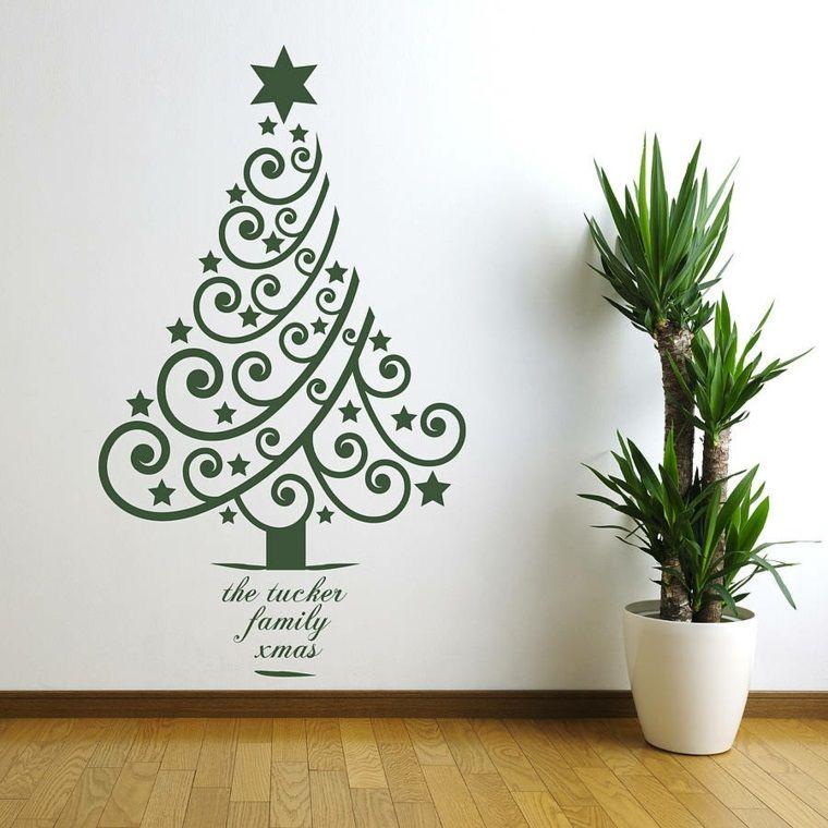 Sticker Murale A Forma Di Un Albero Di Natale Di Colore Verde