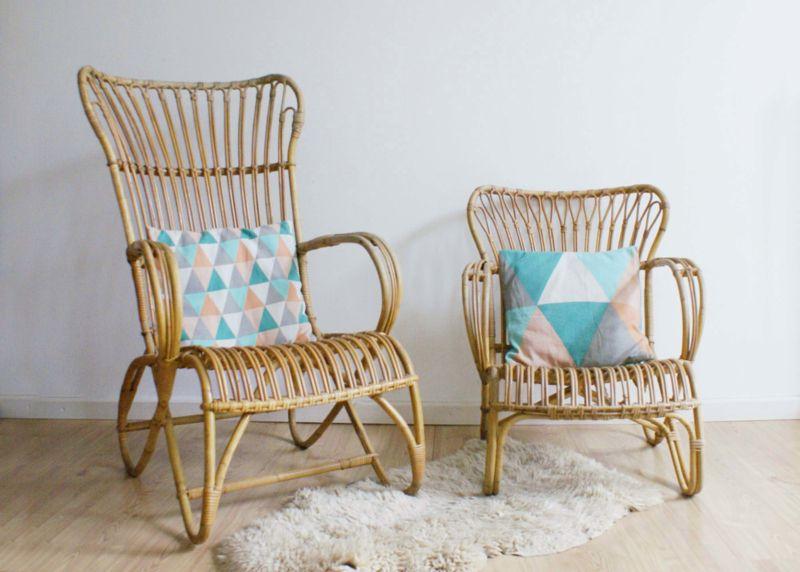 toffe set rotan fauteuils rohe noordwolde vintage stoelen met