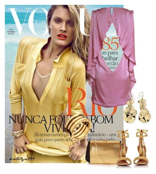 """Rock it in Rio..."" by katelyn999 ❤ liked on Polyvore featuring Nina Ricci, Versace, Aquazzura, Ippolita, Bulgari, versace, NinaRicci, polyvoreeditorial and aquazurra"