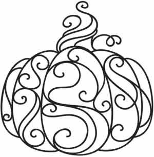 Coloring Page World Swirly Pumpkin Free Printable Coloring