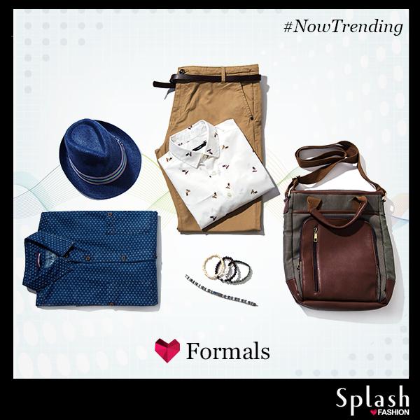 Give your Mondays a stylish twist with these dapper men formals! #Splash #fashion #Formals #MondayBlues #SplashIndia