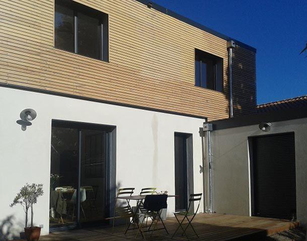 Construction d une maison neuve avec garage bordeaux 33 ma trise d oeuvre quartz a brus for Construction maison neuve bordeaux