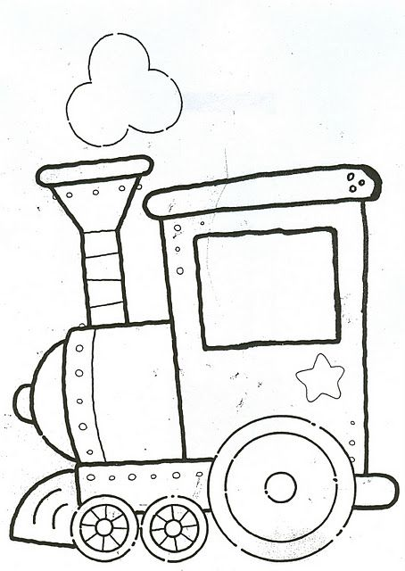 BAÚL DE NAVIDAD: Tren de Navidad infantil para colorear   DIY ...