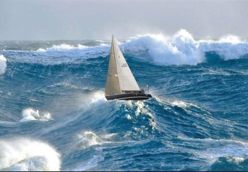 Image result for sailing in rough waters
