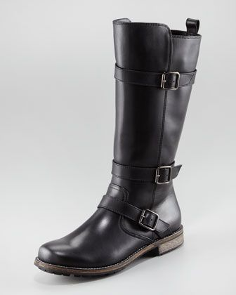 61c588eac7ce9 Varobasso Triple Buckle Mid-Calf Boot by Manolo Blahnik at Neiman Marcus.