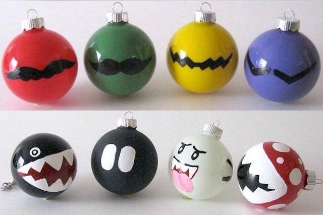 Mario Ornaments Diy Geek Christmas Diy Christmas Ornaments