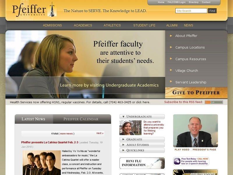 Pfeiffer university with images university university