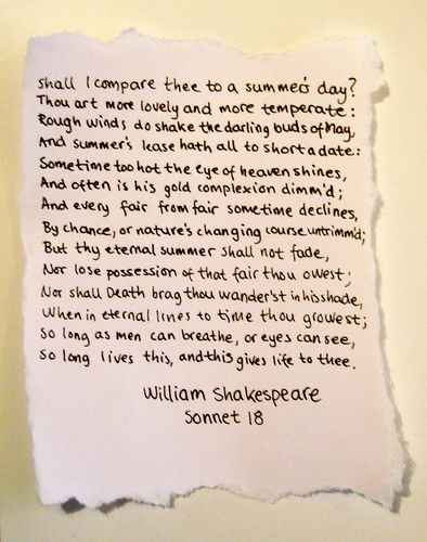 Sonnet 18 Poem Beautiful Shakespeare In Love Magic Quotes Paraphrase